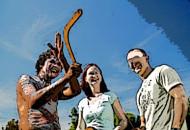 boomerang-throwing